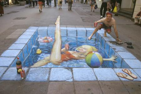 Amazing-3D-Sidewalk-Art-swimming-pool
