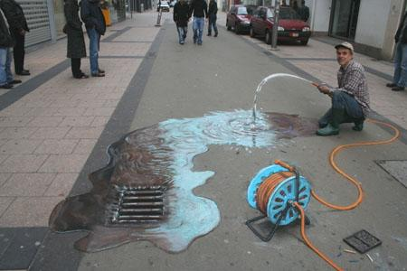 Amazing-3D-Sidewalk-Art-waste-of-water-pipe