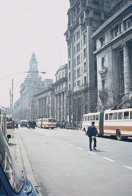 Il Bund nella Shanghai degli anni '80