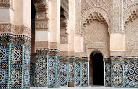 Ali Ben Youssef Madrassa a Marrakech, Marocco. E' una delle più antiche scuole del Corano.